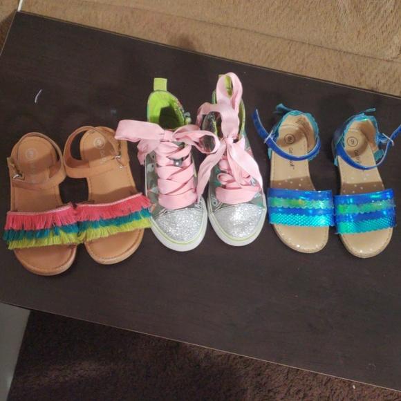 c2193034c Cat & Jack Shoes | 3 Pair Of Girls 9 | Poshmark